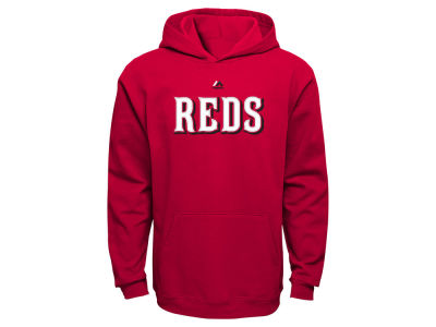 Cincinnati Reds MLB Youth Wordmark Fleece Hoodie