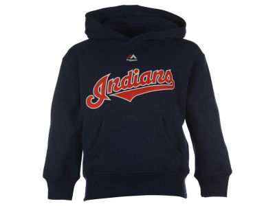 Cleveland Indians Majestic MLB Kids Wordmark Fleece Hoodie
