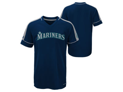 Seattle Mariners Majestic MLB Youth Lead Hitter T-Shirt