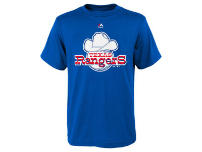 Texas Rangers MLB Youth Coop Official Logo T-Shirt