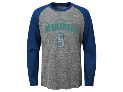 Seattle Mariners MLB Youth Fast Win Raglan Long Sleeve T-Shirt