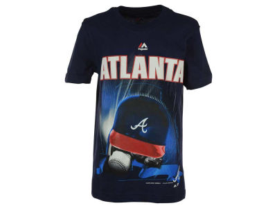 Atlanta Braves MLB Youth Kinetic Helmet T-Shirt