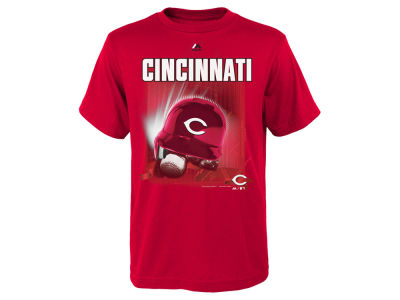Cincinnati Reds MLB Youth Kinetic Helmet T-Shirt