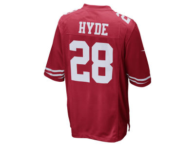 San Francisco 49ers Carlos Hyde NFL Youth Game Jersey