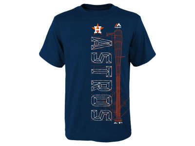 Houston Astros Majestic MLB Youth Baseball Equipment T-Shirt