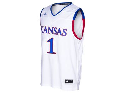 Kansas Jayhawks #1 adidas NCAA Men's 2016 March Madness Replica Home Jersey
