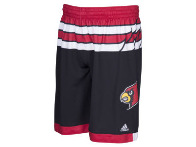 Louisville Cardinals 0 adidas NCAA Men's 2016 March Madness Replica Road Shorts