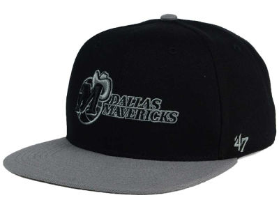 Dallas Mavericks '47 NBA HWC No Shot Black on Gray 2 Tone '47 CAPTAIN Cap