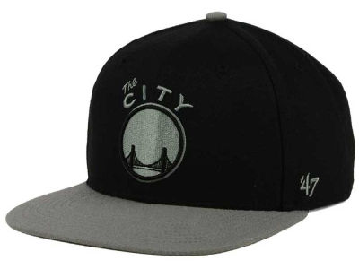 Golden State Warriors '47 NBA HWC No Shot Black on Gray 2 Tone '47 CAPTAIN Cap