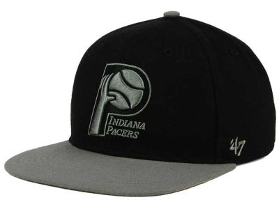 Indiana Pacers '47 NBA HWC No Shot Black on Gray 2 Tone '47 CAPTAIN Cap