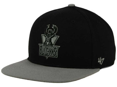 Milwaukee Bucks '47 NBA HWC No Shot Black on Gray 2 Tone '47 CAPTAIN Cap