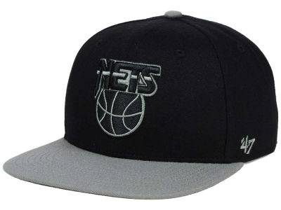 New Jersey Nets '47 NBA HWC No Shot Black on Gray 2 Tone '47 CAPTAIN Cap
