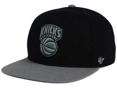 New York Knicks '47 NBA HWC No Shot Black on Gray 2 Tone '47 CAPTAIN Cap