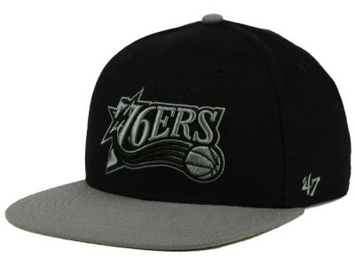 Philadelphia 76ers '47 NBA HWC No Shot Black on Gray 2 Tone '47 CAPTAIN Cap