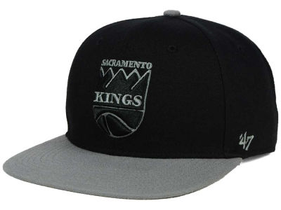 Sacramento Kings '47 NBA HWC No Shot Black on Gray 2 Tone '47 CAPTAIN Cap