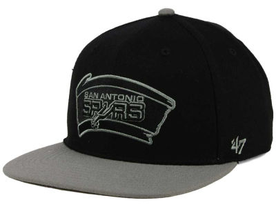 San Antonio Spurs '47 NBA HWC No Shot Black on Gray 2 Tone '47 CAPTAIN Cap