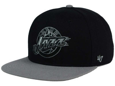 Utah Jazz '47 NBA HWC No Shot Black on Gray 2 Tone '47 CAPTAIN Cap