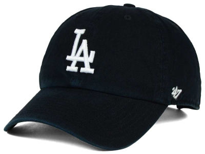 Los Angeles Dodgers '47 MLB Black White '47 CLEAN UP Cap