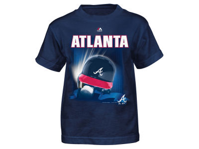 Atlanta Braves MLB Child 4-7 Kinetic Helmet T-Shirt