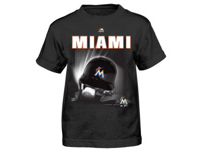 Miami Marlins MLB Toddler Kinetic Helmet T-Shirt