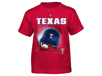 Texas Rangers MLB Toddler Kinetic Helmet T-Shirt