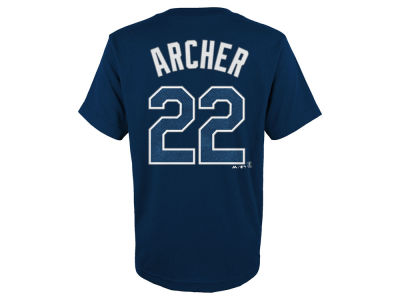 Tampa Bay Rays Chris Archer MLB Youth Official Player T-Shirt