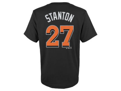 Miami Marlins Giancarlo Stanton MLB Youth Official Player T-Shirt