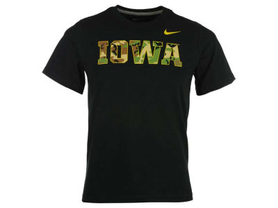 Iowa Hawkeyes Nike NCAA Youth Camo Hook T-Shirt