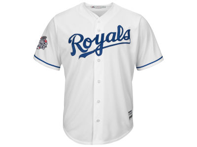 Kansas City Royals MLB Men's World Series Patch Replica Cool Base Jersey