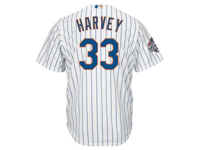 New York Mets Matt Harvey MLB Men's World Series Patch Player Cool Base Jersey