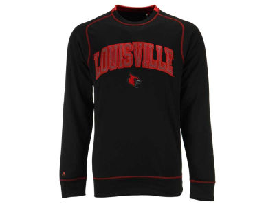 Louisville Cardinals NCAA Men's Applique Logo Volt Crew Fleece Sweatshirt