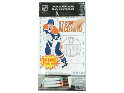 Edmonton Oilers Connor McDavid NHL Coloring Plaque