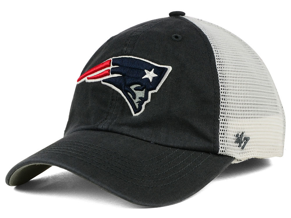 new style 8ee1b d3491 New England Patriots 47 NFL Blue Hill 47 CLOSER Cap ...