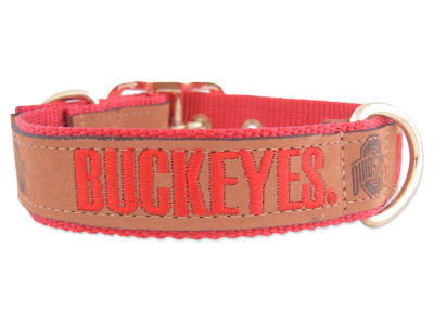 Ohio State Buckeyes Leather Pet Collar-Large