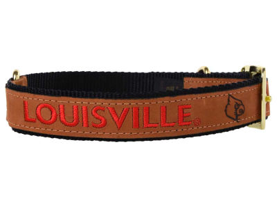 Louisville Cardinals Leather Pet Collar-Extra Large