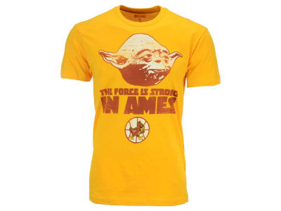 Iowa State Cyclones NCAA Men's Yoda Head Force is Strong T-Shirt