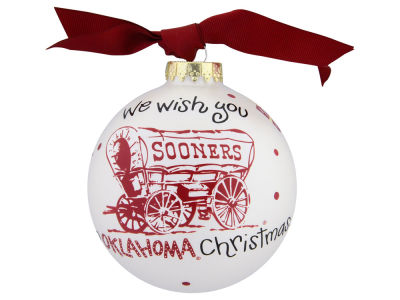 Oklahoma Sooners We Wish Ornament