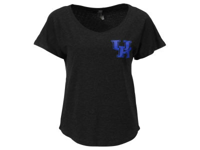 Kentucky Wildcats NCAA Women's Mascot Sweeper Print Tri Dolman T-Shirt