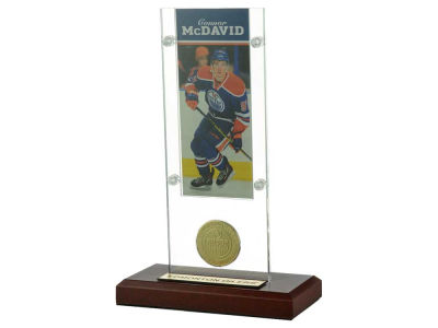 Edmonton Oilers Connor McDavid Ticket and Coin Acrylic