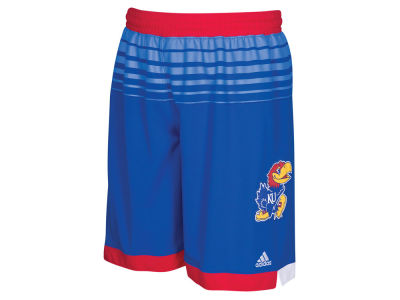 Kansas Jayhawks adidas NCAA Youth 2016 March Madness Replica Road Shorts