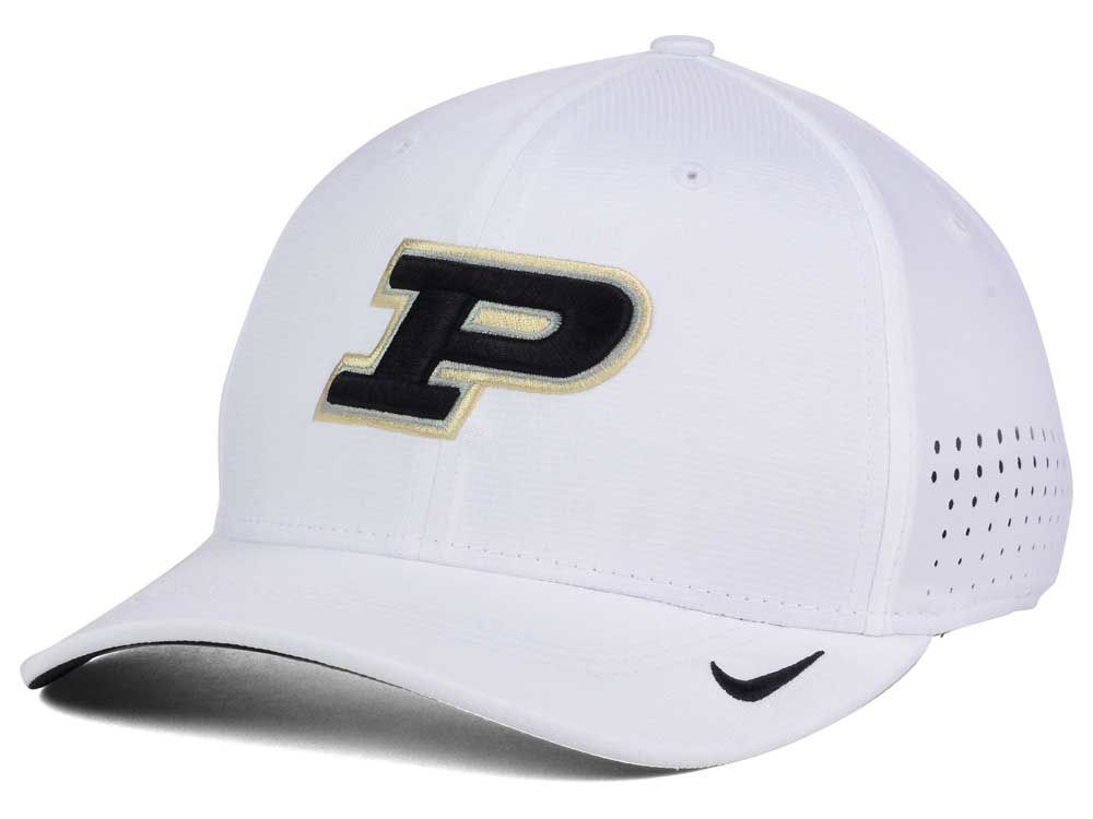 Purdue Boilermakers Nike NCAA Vapor Sideline Swoosh Flex Cap  9259ff9d2b66