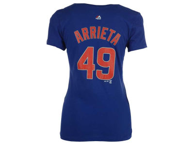 Chicago Cubs Jake Arrieta Majestic MLB Women's Crew Player T-Shirt