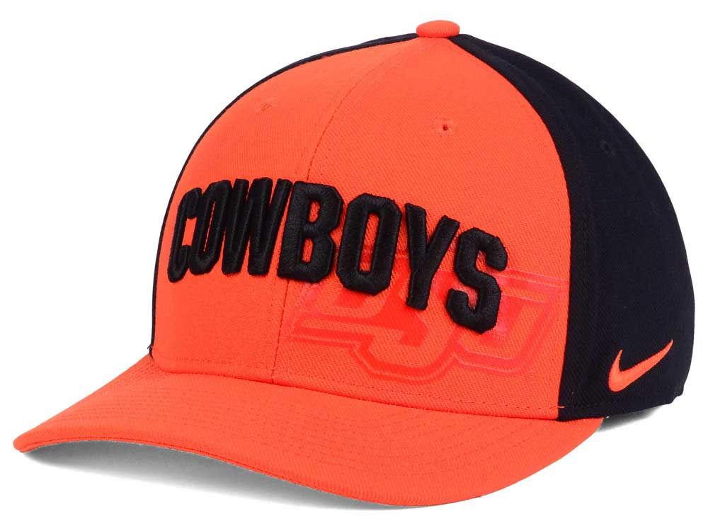 finest selection c97bd 32559 ... coupon code for oklahoma state cowboys nike ncaa classic 99 swoosh flex  cap 2d257 47de7
