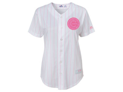 Chicago Cubs Majestic MLB Girls CB Pink Glitter Jersey