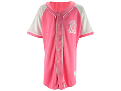 New York Yankees Majestic MLB Youth Girls Pink Fashion Jersey