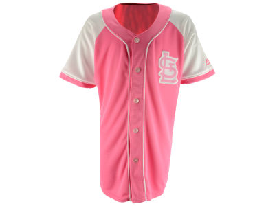 St. Louis Cardinals Majestic MLB Youth Girls Pink Fashion Jersey