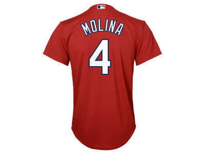 St. Louis Cardinals Yadier Molina Majestic MLB Youth Player Replica Cool Base Jersey
