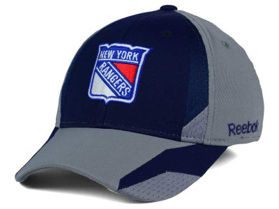 New York Rangers Reebok NHL Corner Net Flex Cap