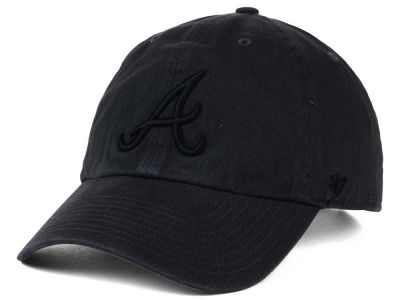 Atlanta Braves '47 MLB Charcoal Black '47 CLEAN UP Cap