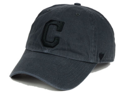 Cleveland Indians '47 MLB Charcoal Black '47 CLEAN UP Cap